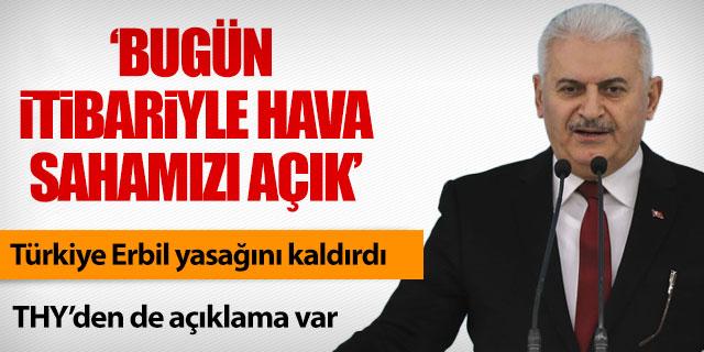 Türkiye Erbil'e olan uçuş yasağını kaldırdı