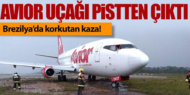 Yolcu uçağı Brezilya'da pistten çıktı