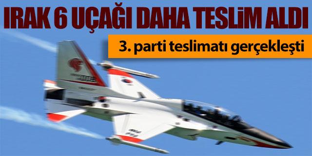 Irak 6 uçağı daha teslim aldı