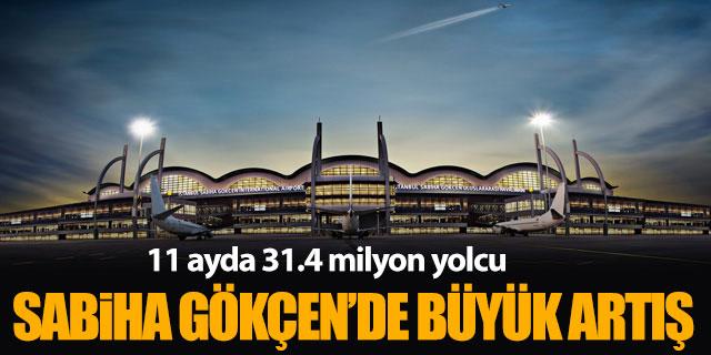 Sabiha Gökçen Havalimanı'nda büyük artış