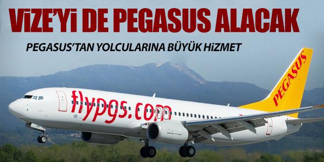 YOLCULARIN VİZESİNİ DE PEGASUS ALACAK