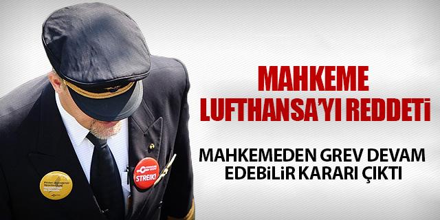 LUFTHANSA'YA ŞİMDİ DE MAHKEME ŞOKU!