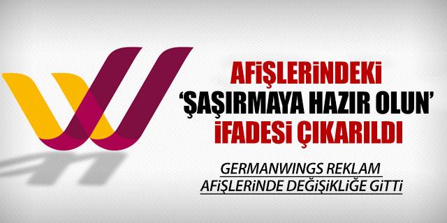 GERMANWINGS REKLAM AFİŞLERİNDE DEĞİŞİKLİĞE GİTTİ