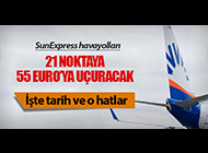 SUNEXPRESS AVRUPA'YA 55 EURO'YA UÇURACAK