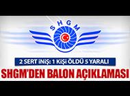SHGM'DEN BALON KAZASI AÇIKLAMASI
