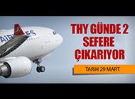 THY SEFERLERİ ARTIRIYOR