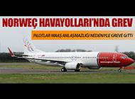 NORVEÇ HAVAYOLLARI'NDA PİLOTLAR GREVE GİTTİ