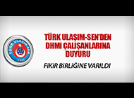 TÜRK ULAŞIM-SEN'DEN DHMİ ÇALIŞANLARINA DUYURU