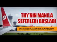 THY'NİN MANİLA SEFERLERİ BAŞLADI