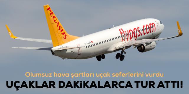 Uçaklar dakikalarca İzmir semalarında tur attı