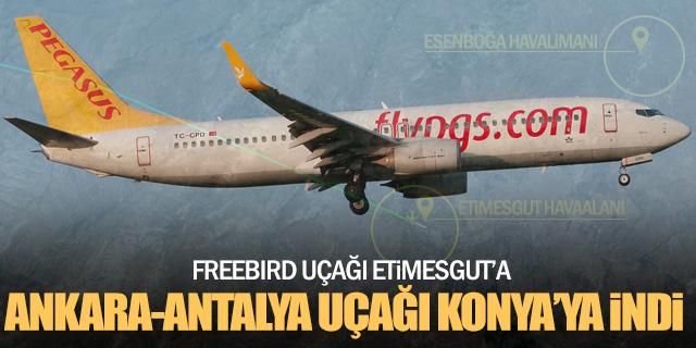 Ankara-Antalya uçağı Konya'ya indi