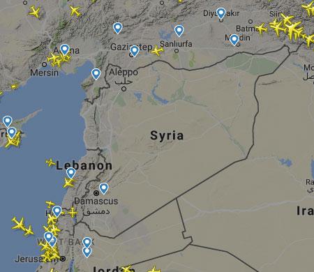 Suriye üzerinde kuş uçmuyor!