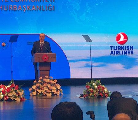 Cumhurbaşkanı Erdoğan'dan THY'ye övgü