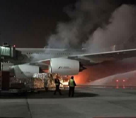 Abu Dabi'de korkutan yangın; A380 yanacaktı