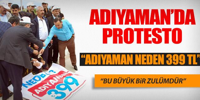 ADIYAMAN HAVALİMANI'NDA PROTESTO
