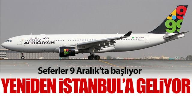 Afriqiyah Airways yeniden İstanbul'a geliyor