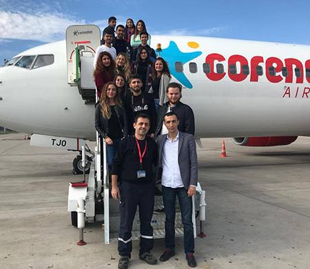 Geleceğin havacıları Antalya Havalimanı'nda sahaya indi