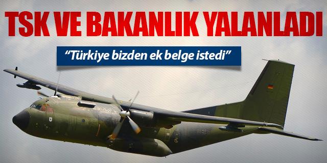 TSK'DAN 'ALMAN UÇAĞI' AÇIKLAMASI