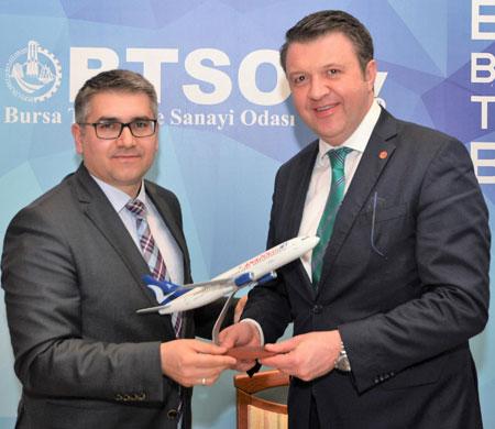 BTSO ve Anadolujet'ten güç birliği