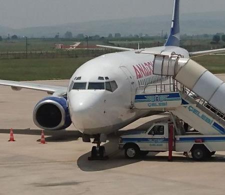 Anadolujet uçağına kuş çarptı
