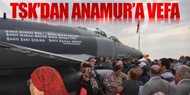 TÜRK HAVA KUVVETLERİ, ANAMUR'A BÖYLE TEŞEKKÜR ETTİ