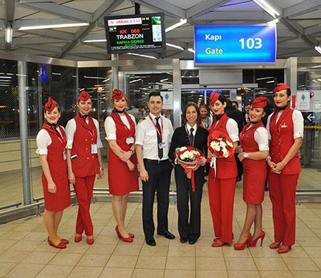 Atlasglobal Trabzon uçuşlarına başladı