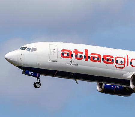 AtlasGlobal uçağına yıldırım isabet etti