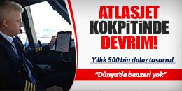 ATLASJET KOKPİTTE DEĞİŞİME GİTTİ