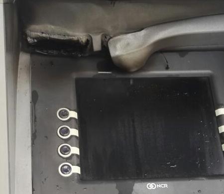 Atatürk Havalimanı apronunda ATM cihazı yandı