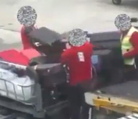 AHL'de bagajları fırlatan personelin videosu tepki çekti