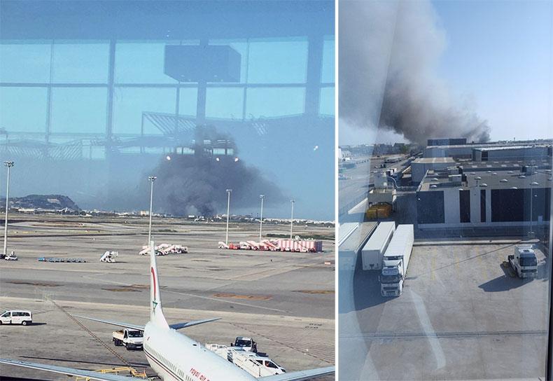 Frankfurt Havalimanı'nda yangın ile ilgili görsel sonucu