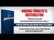 """BOEING: """"ORTAK UÇAK ÜRETİMİNDEN GURUR DUYARIZ"""""""