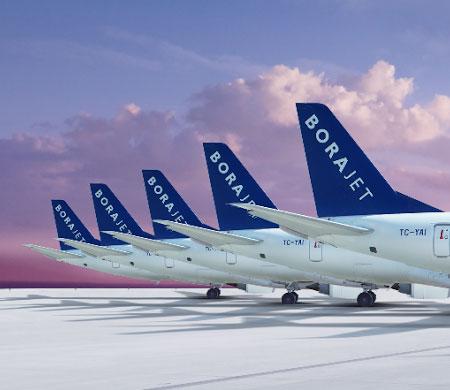 Borajet Trieste'ye uçak ilk ve tek Türk şirket