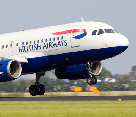 BRITISH AIRWAYS UÇAĞI ERCAN HAVALİMANI'NA İNDİ