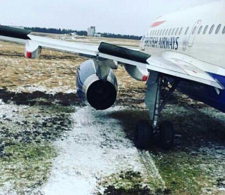 British uçağı pistten çıktı