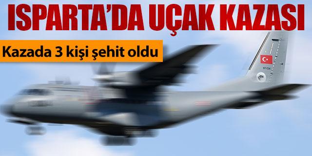 Isparta'da CASA tipi uçağı düştü