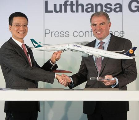 Cathay Pacific ve Lufthansa'dan işbirliği
