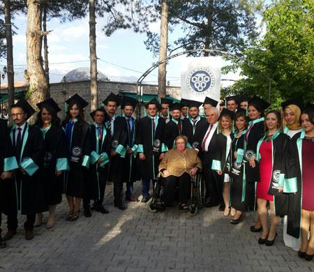 Erzincan Üniversitesi SHYO ilk mezunlarını verdi