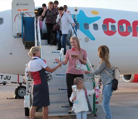 Corendon Ekaterinburg'dan uçuşlara başladı