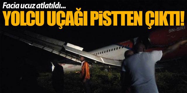 Yolcu uçağı pistten çıktı... Facia ucuz atlatıldı!