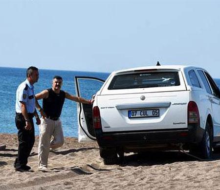 Atlasglobal pilotu sahilde mahsur kaldı