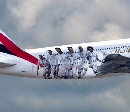 Emirates A380 uçağına Real Madrid'i giydirdi