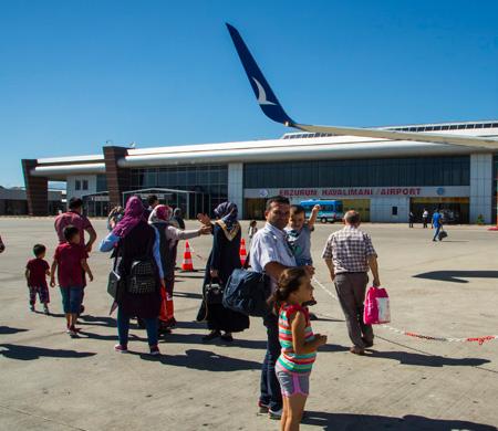 Erzurum Havalimanı dış hat yolcusu arttı