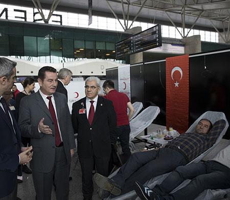 Esenboğa'da kan bağışı kampanyası