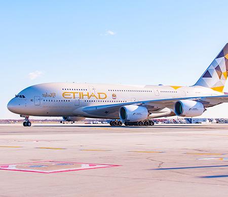 Etihad'ın dev uçağı New York'a uçtu