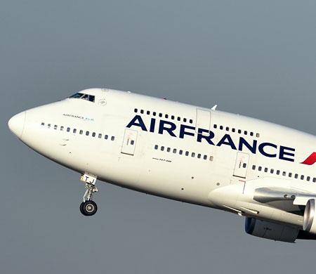 Air France B747 ile son uçuşunu yapıyor
