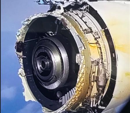 Air France'a ait A380'in uçuş sırasında motoru patladı