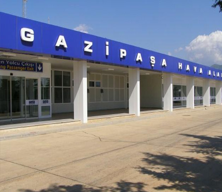 GAZİPAŞA HAVALİMANI'NA İLK A320 TEKER KOYDU