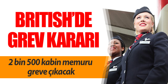 British Airways kabini greve gidiyor