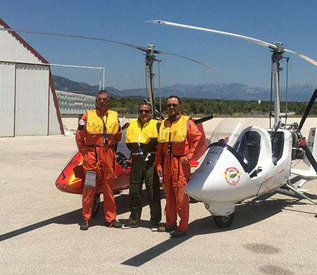 Gyrocopter ile KKTC uçuşu gerçekleşti